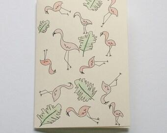 greeting POP FLAMINGO card / flamingo Birthday Card / flamingo thank you card friend / flamingo Christmas card