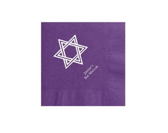 Star of David Napkins Personalized Set of 100 Napkins