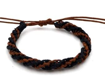 Twisted adjustable 100% cotton unisex Friendship Bracelet