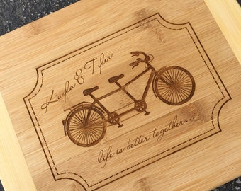 Engraved Cutting Board,Personalized Cutting Board,Shower Gift,Wedding Gift,Anniversary Gifts,Housewarming Gift,Laser Engraved