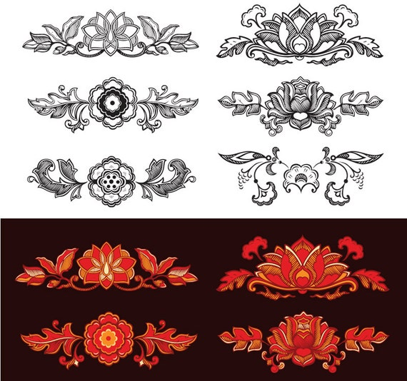 Flower vector clipart flourish clipart floral border clipart digital flower vector clipart flourish clipart floral border clipart digital floral design tattoo elements vintage wedding invitation eps png psd from stopboris Gallery