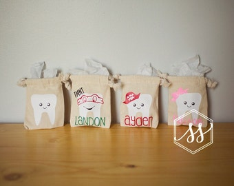 Personalized Tooth Fairy Pouch | Tooth Fairy Gift | Toothfairy | Toothfairy Bag | Tooth Bag