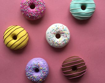 6 x 60g Classic Doughnut Pattern Weights - EXTRA HEAVY | Great Sewing Gift for Birthdays | Handmade with Polymer Clay by Oh Sew Quaint |