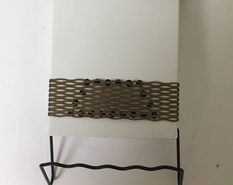 Refurbished White and Gold Mailbox City style wallmount