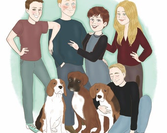 Custom family portrait - illustration