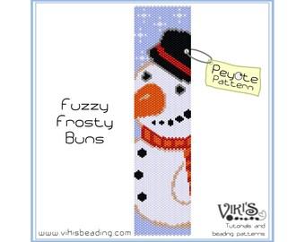 Beadweaving Pattern Peyote for bracelet: Fuzzy Frosty-Buns - INSTANT DOWNLOAD PDF - buy more, save more