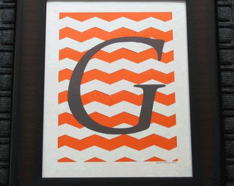 Your Monogram  - Scherenschnitte - Custom Personalized -  Hand Paper Cutting Art signed and dated By Janet Lynch - Framed