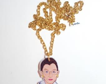 Notorious RBG Acrylic Necklace