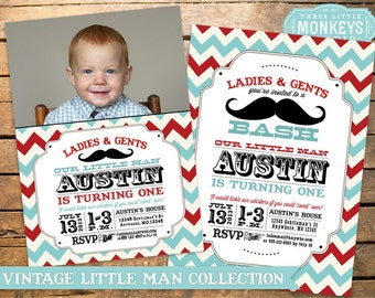 Mustache Birthday Party Invitation + Our 4 Favorite Printables!