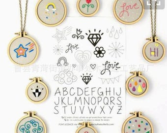 DIY Mini Embroidery Hoop Frame Oval Embroidery Hoop Miniature Embroidery Hoops  DIY Tiny Hoop Kit Mini Oval Hoop Frame DIY Necklace Kit