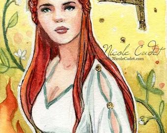 Goddess Brigid Limited edition ACEO/ ATC print