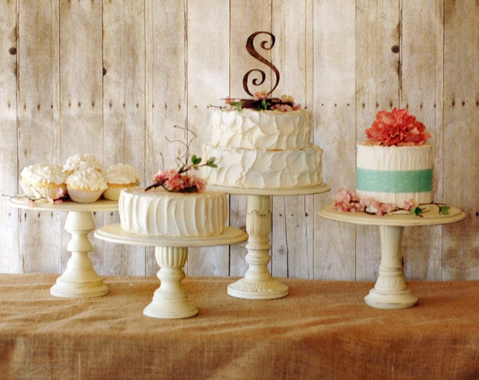Antique White Custom Cake Stand