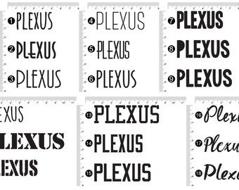 "Plexus Decal Sticker Sets of 10 (2"") 73761AO"