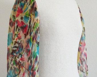 SALE Womens Silk Flutter Sleeve Sweater