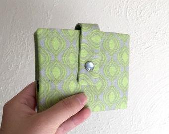 Limegreen und grau geometrischen Print Wallet - Midsize Cash und Card Wallet mit Änderung Beutel-