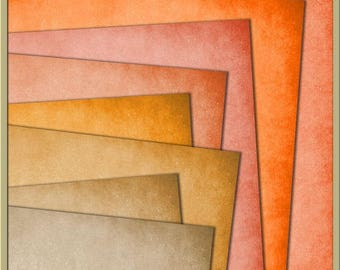INSTANT DOWNLOAD - Essential Plains Paper Pack 3 Digital Papers - 12 x 12 Papers orange, tan, beige