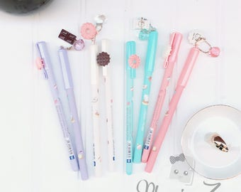 Kawaii Hello Kitty Dessert stylos - stylos Gel mignon