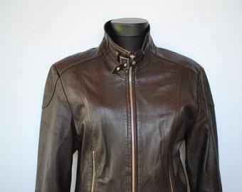 Vintage LEATHER JACKET , women's leather jacket .....(122)