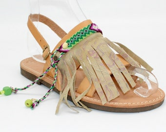 SALE! 38 US 7-7.5 Leather sandals, Leather Sandals gold  Greek sandals, strappy sandals, Boho Leather flat sandals, sandales grecques