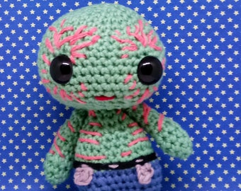 Drax the destroyer amigurumi style PDF crochet pattern Inspired by Guardians of the galaxy