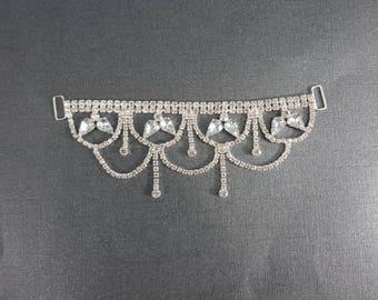 Chandelier  elite Clear Rhinestone Connector for bikini or crafting