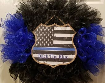 Back the Blue wreaths