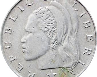 1968 25 Cents Liberia Coin