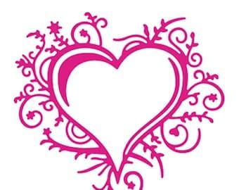 Scrapbooking hearts cut