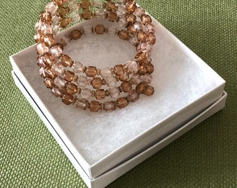 Wrap Bracelet- Two Shade of Topaz Color
