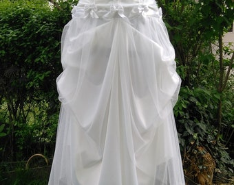 White satin wedding dress, wedding gown, boho beach wedding, short wedding dress