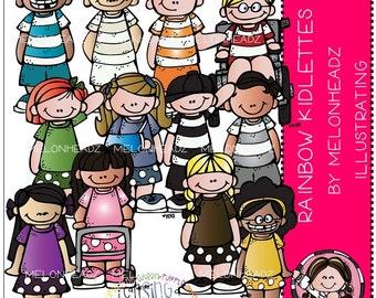 Rainbow Kidlettes clip art