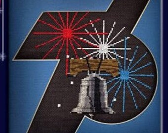 The 4th of July Fireworks Liberty Bell KIT in counted cross stitch