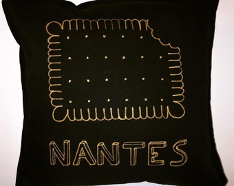 cushion black and gold Nantes