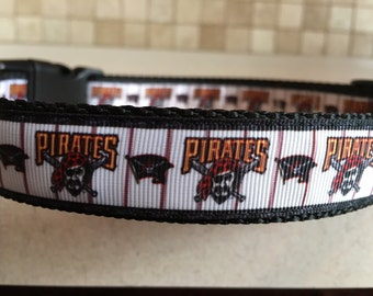 Pirates Large and Medium Dog Collar 1""