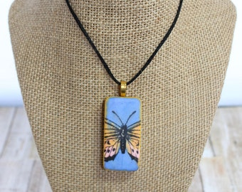 Butterfly Altered Domino Pendant