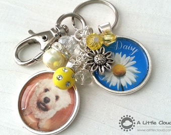 Pet Loss Keychain, Beaded, Custom, Charmed, Personalized, Pet owner, Dog Owner