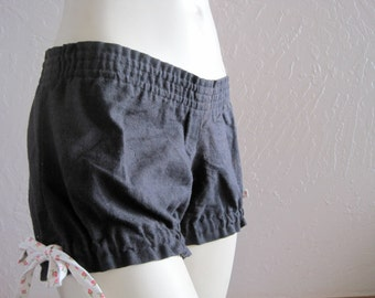 INDIE ATTIRE - Hemp Bloomer Shorts - Black - X Small