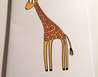 A5 Giraffe Notebook (plain inside)