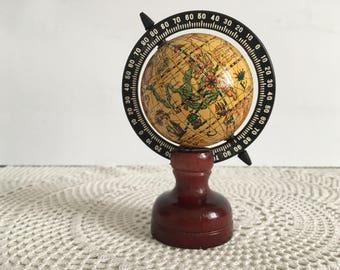 Pencil sharpener globe - Vintage Globe Pencil Sharpener - pencil sharpener - small globe - Vintage small world globe - Small earth globe