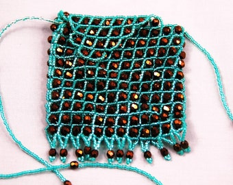 emerald and bronz amulet bag