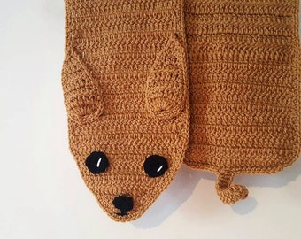 Chihuahua scarf, crochet chihuahua, ready to ship,Valentine's day gift, chihuahua lover,