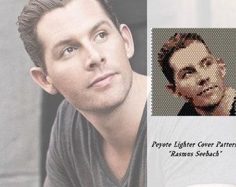"Peyote pattern  for lighter cover  ""Rasmus Seebach"""