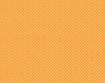 White Polka Dots on Orange Cardstock Paper