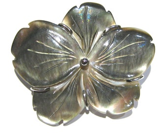 mother of pearl pendant brooch silver 925%