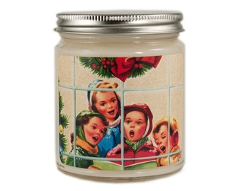 Christmas Candle, Personalized Candle, Holiday Candle, Scented Candle, Vintage Candle, Candle Gift, Soy Candle, Holiday Decor