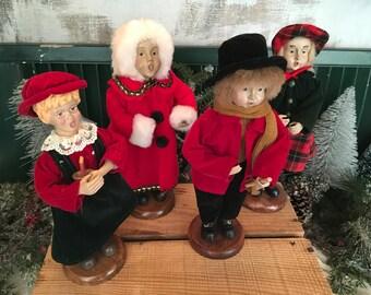 Christmas Carolers, Christmas Decor, Set/4, Christmas Singers, Christmas Display, Holiday, Carolers, Christmas Carols, Christmas Figurines
