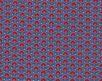 Teal blue fabric Liberty Seth Rankin