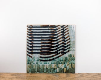 Print digital paper metallic Urban Glitch Boston #3 Mobile Art photographic print