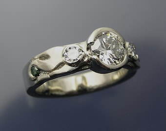 Flowing Custom Diamond Engagement Ring