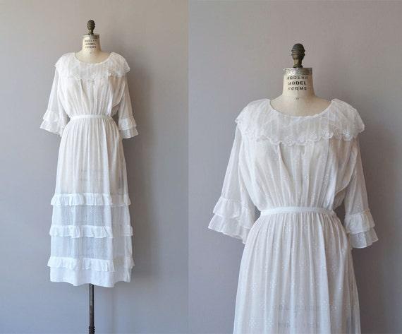 Evangeline Kleid 1910er Jahre Vintage Kleid Baumwolle